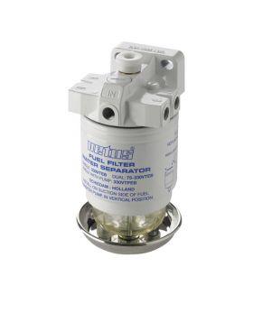 Wasserabscheider/Grobfilter mit Entlüftungspumpe,CE/ABYC, einzeln, 10 micron, max. 42 gph (190 l/h)