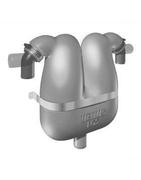 Abgasseparator 38 mit drehbaren Schlauchanschluss 50 mm