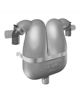 Abgasseparator 50 mit drehbaren Schlauchanschluss 60 mm.