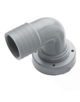 Schlauchanschluss, Ø 38 mm, gebogen, für starre Tanks