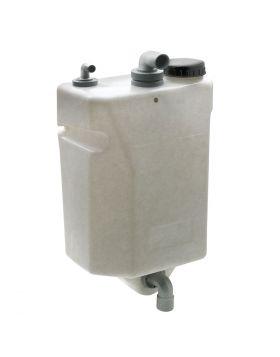 25 liter Schmutzwassertank - Wandhängend, komplett - vertikale Version - 620 x 340 x 235 mm