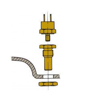 Sensor für Auspufftemperatur -  für Montage im Schalldämpfer