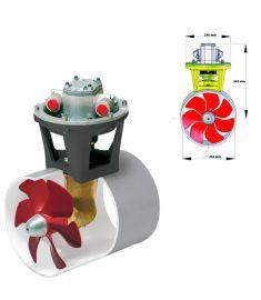 Hydraulisches Bugstrahlruder 160 kgf inkl. Hydro Motor 9,5 kW, für Tunneldurchmesser. 250 mm