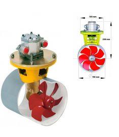 Hydraulisches Bugstrahlruder 55 kgf inkl. Hydro-Motor 3,5 kW, für Tunneldurchmesser 150 mm