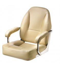 Master. Hochwertiger Sitz mit gepolsterten Armlehnen, Creme