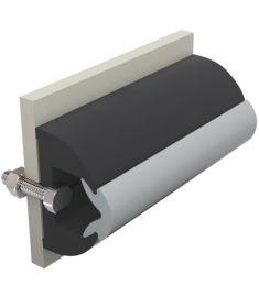 Vinyl Scheuerleiste schwarz, Typ HARO, 50 x 34 mm, Rolle von 20 m (Preis pro Meter)