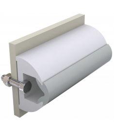 Vinyl Scheuerleiste weiß, Typ HARO, 50 x 34 mm, Rolle von 30 m (Preis pro Meter)