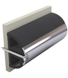 Vinyl Scheuerleiste schwarz, Typ HARO5S, 50 x 34 mm, Rolle von 20 m (Preis pro Meter)