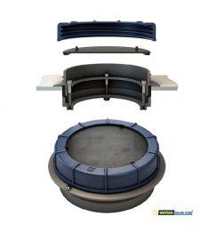 Innovativer Inspektionsdeckel mit Flansch-in Ring-Design, für diesel, wasser und Schmutzwassertanks