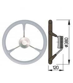 Steuerrad Type KS mit Polyuhrethanbeschichtung - Ø38 cm - Grau