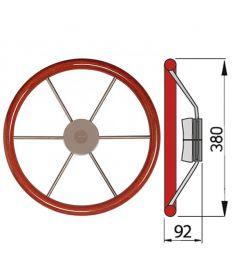 Steuerrad mit Mahagoni Außenring Typ KW - Ø38 cm
