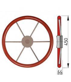 Steuerrad mit Mahagoni Außenring Typ KW - Ø45 cm