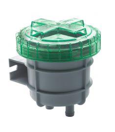 Geruchsfilter klein, mit Anschlüssen für Innendurchmesser 16 mm Schlauch (107 x 111 x 111)