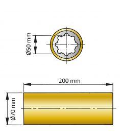 ØA 50 mm x ØB 70 mm x C 200 mm - fenol resin