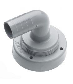 Schlauchanschluss, Ø 19 mm, gebogen, für starre Tanks