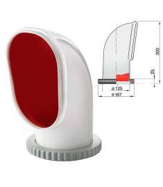 Windhutze Typ Samoen, mit roter Innenseite, inkl. drehbaren Kunststoff Ring (abnehmbar)