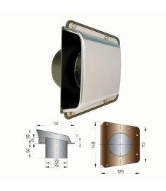 Lüftungsmuschel Typ SCIROCCO #(inkl. Unterplatte)