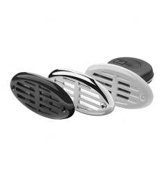 Elektrisches Einbauhorn - 12 Volt - inklusive weiße, schwarze u. verchromte Abdeckung