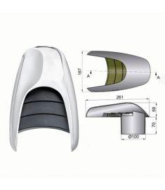 Lüftungsmuschel Typ Typhoon Ø 100 mm
