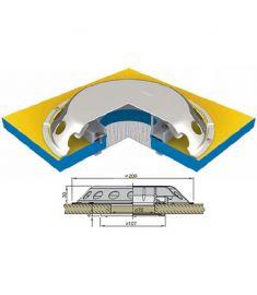 Dæksventil type UFO i AISI 316 rustfrit stål