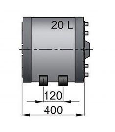 Doppelwandige Boiler WHD 20L