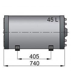 Doppelwandige Boiler WHD 45 litre