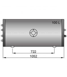 Twin coil calorifier 100 litre