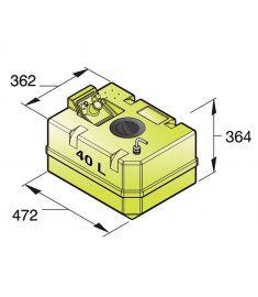 Trinkwassertank 40 Liter inkl. Anschlüsse und Inspektionsdeckel